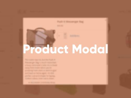 Tile with Product Modal extension screenshot